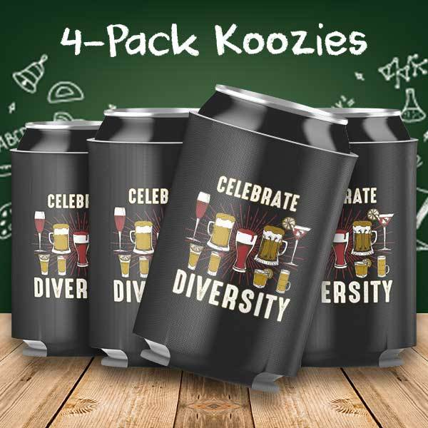 Celebrate Diversity 4-Pack Can Coolers