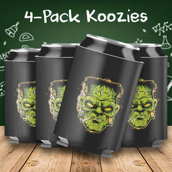 Frankenstein Halloween 4-Pack Can Coolers