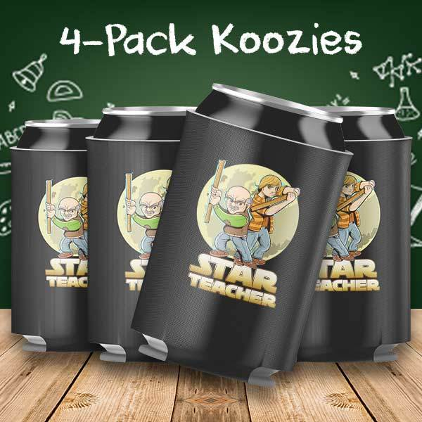 Star Teacher 4-Pack Can Coolers