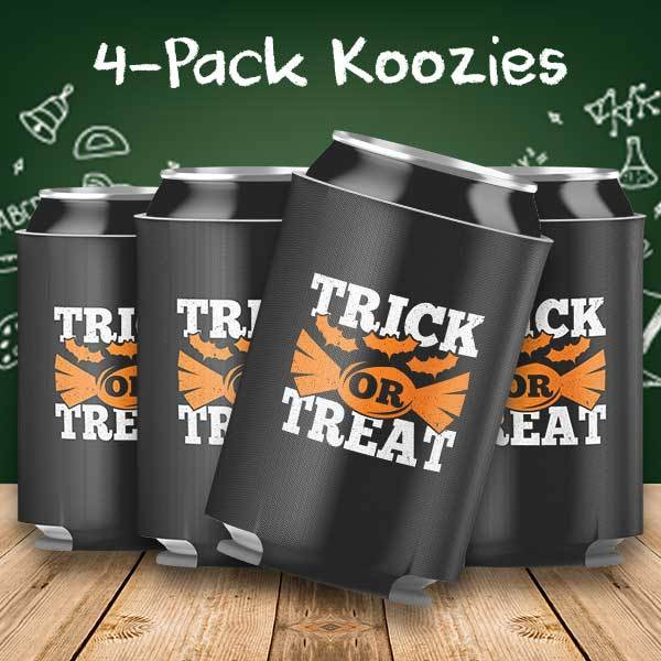 Trick or Treat Halloween 4-Pack Can Coolers