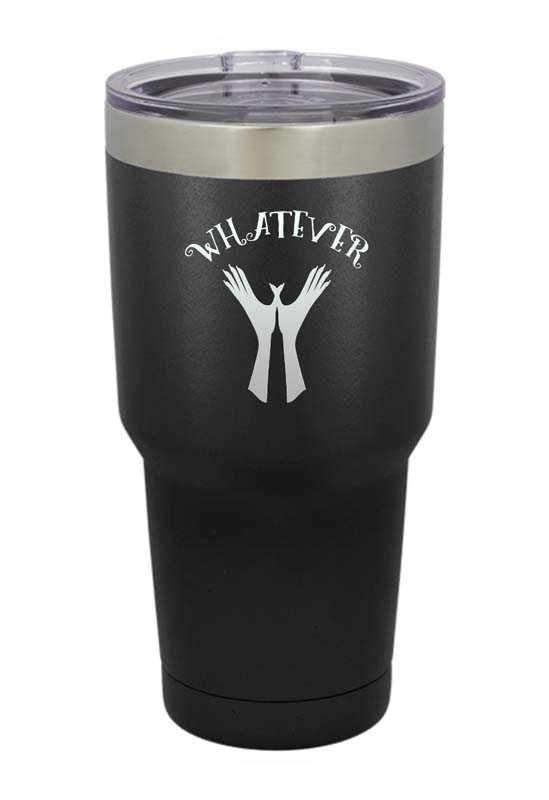 Whatever Hand Signal Laser Etched Tumbler