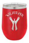 Whatever Hands Sign Laser Etched Wine Cup