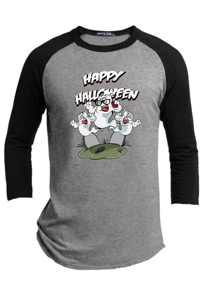 Ghost Attack Halloween Raglan