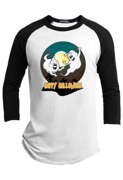 Happy Halloween Ghosts Raglan