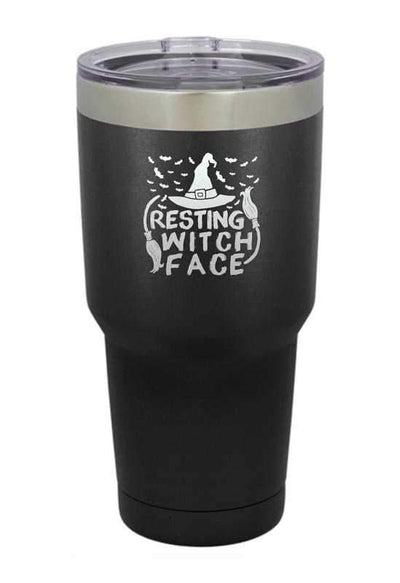 Resting Witch Face  Halloween Tumbler