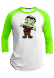 Kid Frankenstein  Halloween Youth Raglan