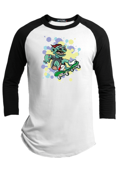 Ghoul Board  Halloween Youth Raglan