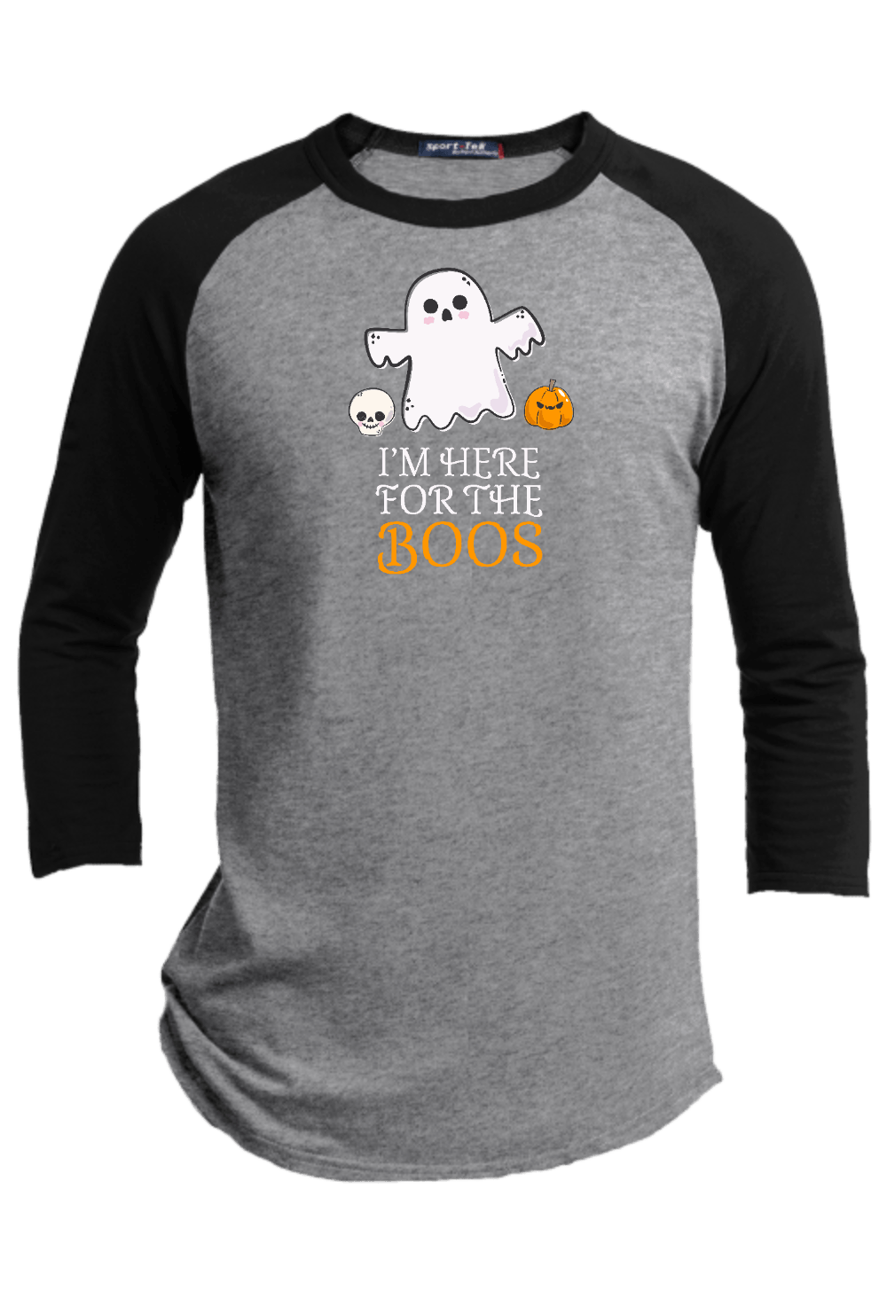 I am Here for the Boos  Halloween Youth Raglan
