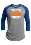 Trick or Treat  Halloween Youth Raglan