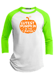 Cutest Pumpkin in the Patch  Halloween Youth Raglan