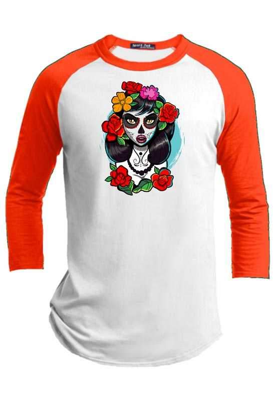 Catrina  Halloween Youth Raglan