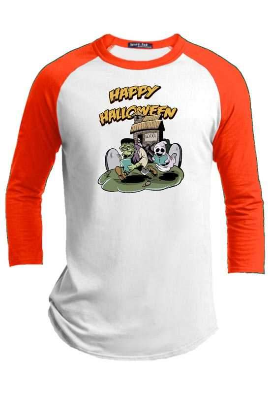 School Day  Halloween Youth Raglan