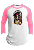 Grim and Catrina  Halloween Youth Raglan