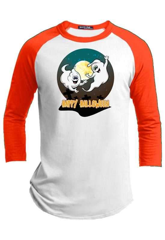 Ghost Time  Halloween Youth Raglan