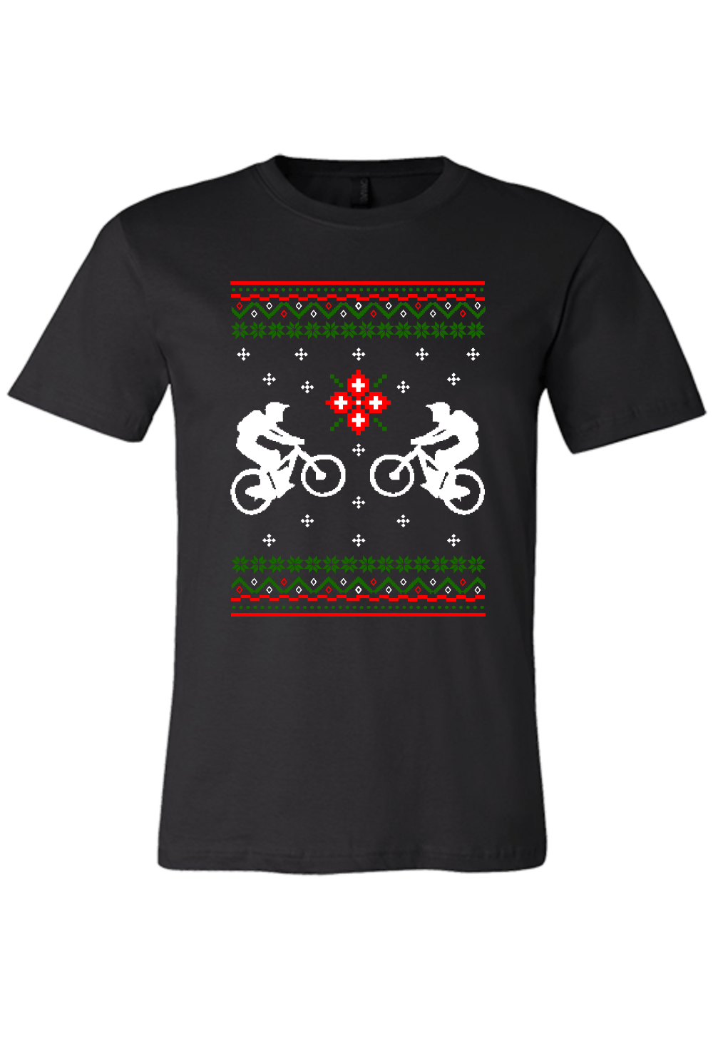Ugly Sweater Bicycle Cross Christmas Shirt