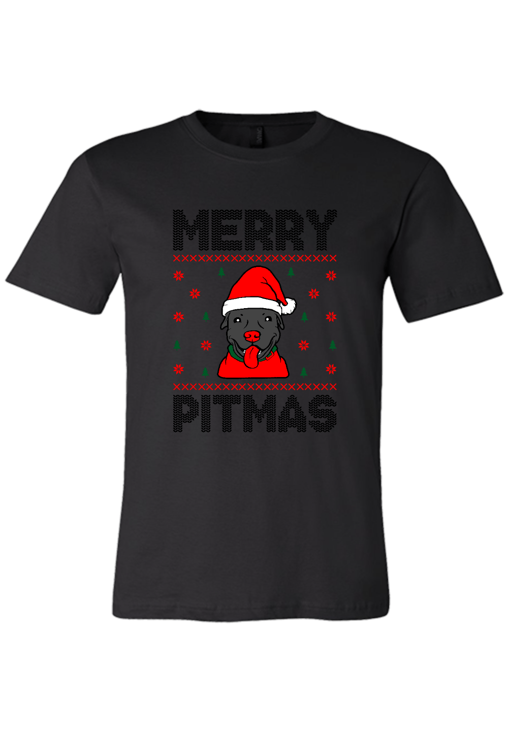 Merry Pitmas Pit Bull Christmas Shirt