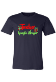 Teacher Gangsta Wrapper Christmas Shirt