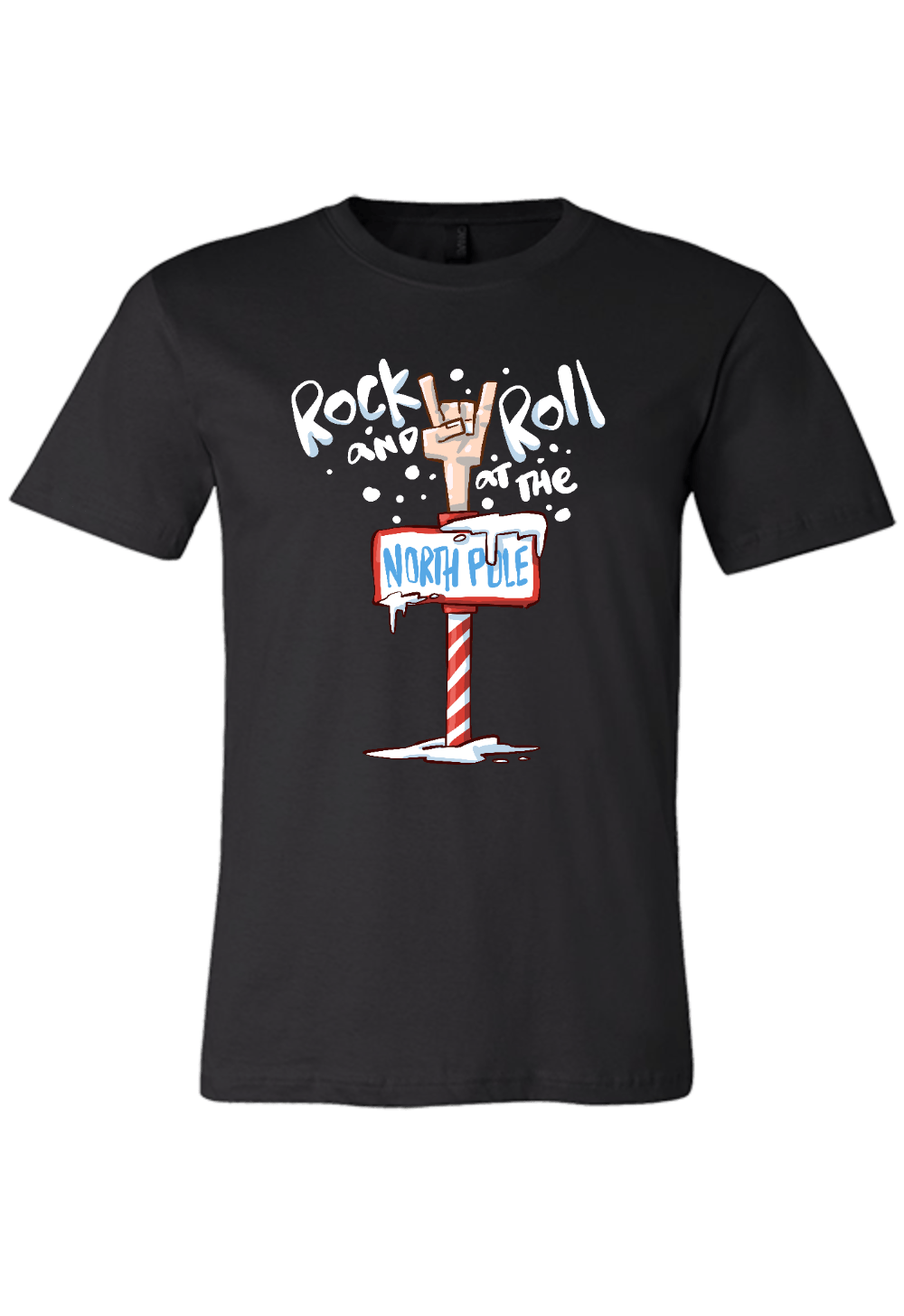 Rock and Roll at the North Pole Christmas Shirt