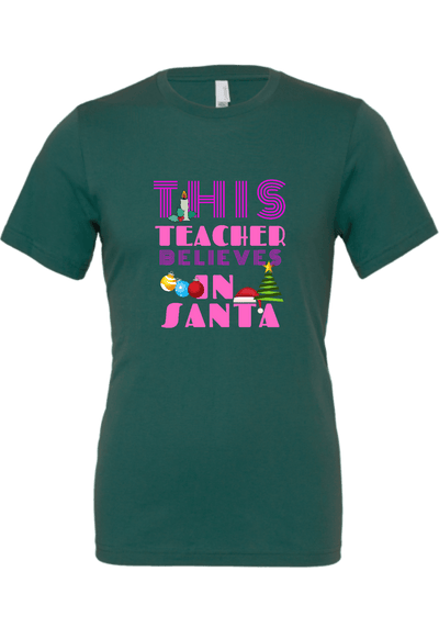 This Teacher Believes in Santa Christmas Shirt