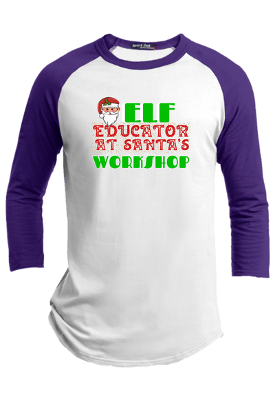Elf Educator at Santa's Workshop Christmas Raglan