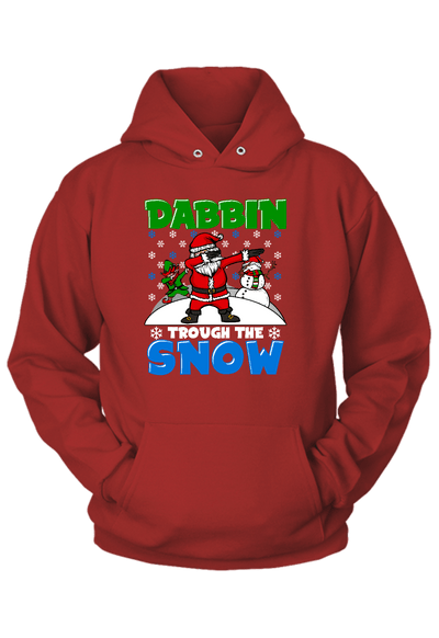 Dabbing Thru the Snow Christmas Hoodie