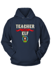 Teacher Mom Elf Christmas Hoodie