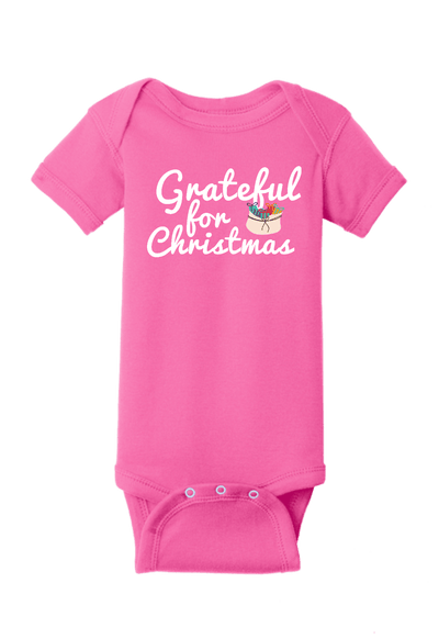Grateful for Christmas Baby One Piece