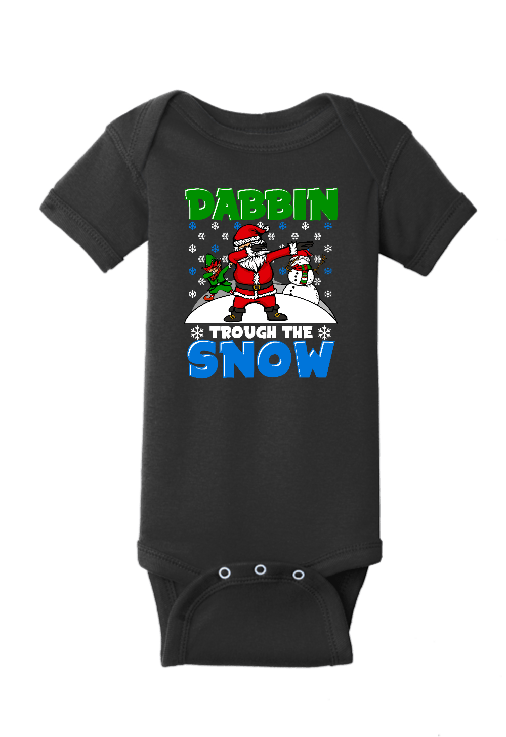 Dabbin thru the Snow Christmas Onesie