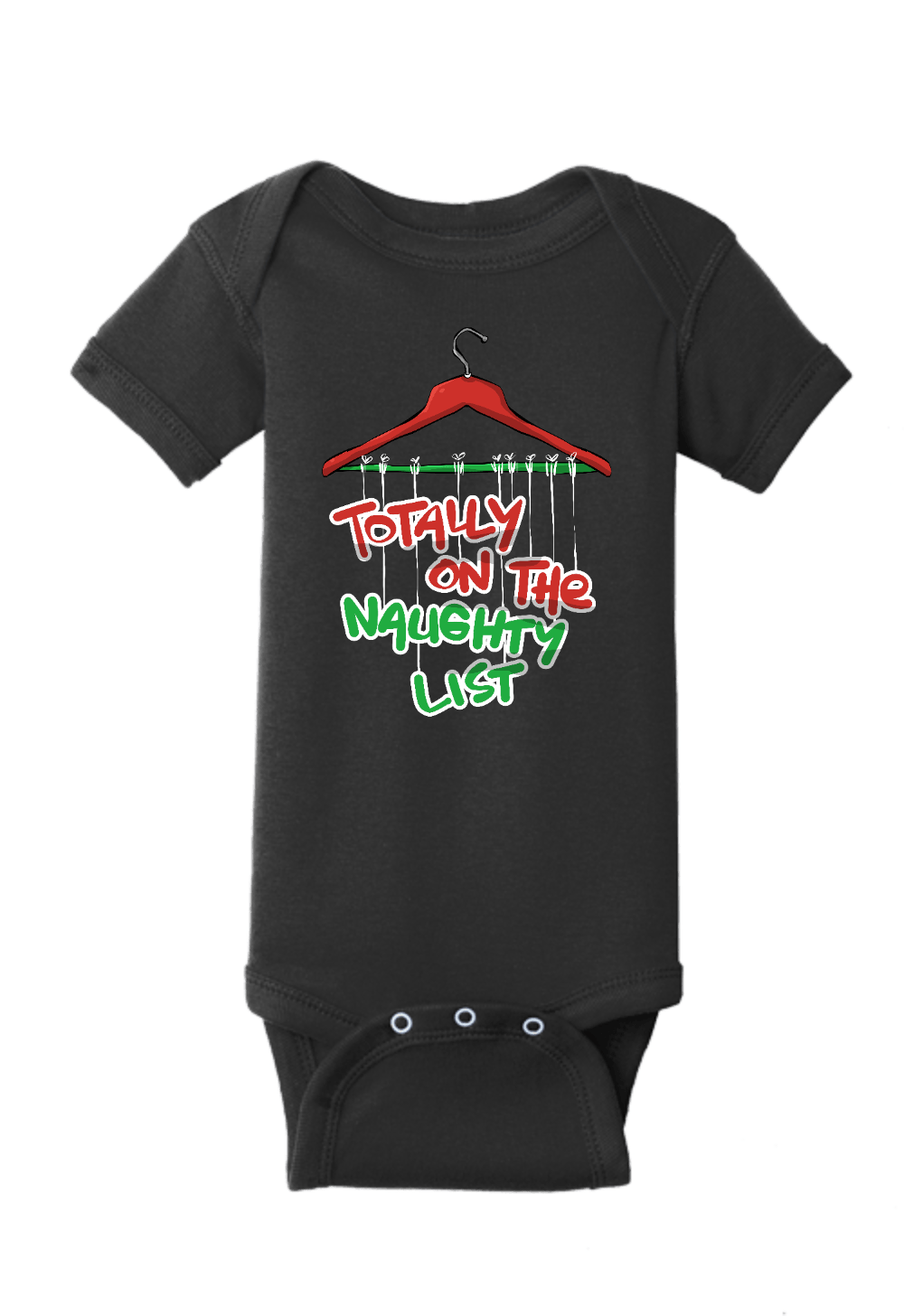 Totally on the Naughty List Christmas Onesie