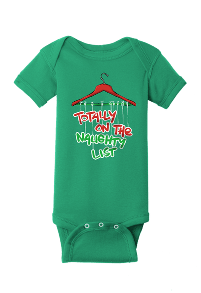 Totally on the Naughty List Christmas Baby One Piece