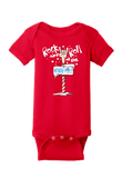 Rock and Roll at the North Pole Christmas Onesie