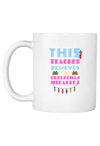 This Teacher believes in Christmas Miracles Coffee Mug
