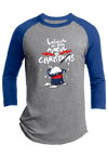 I Believe in the Magic of Christmas Youth Christmas Raglan