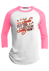 Dear Santa is it too late to Say Sorry Christmas Raglan