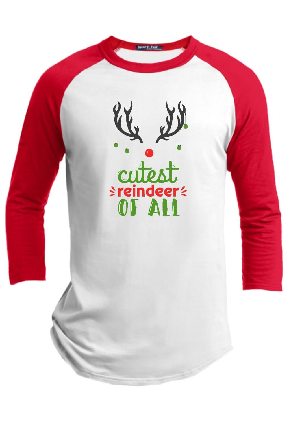 Cutest Reindeer of All Christmas Raglan