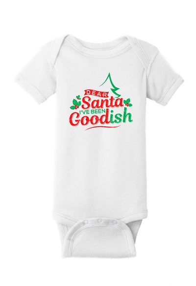 Dear Santa I have Been Goodish Christmas Baby One Piece