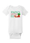 Papa's Little Elf Christmas Baby One Piece