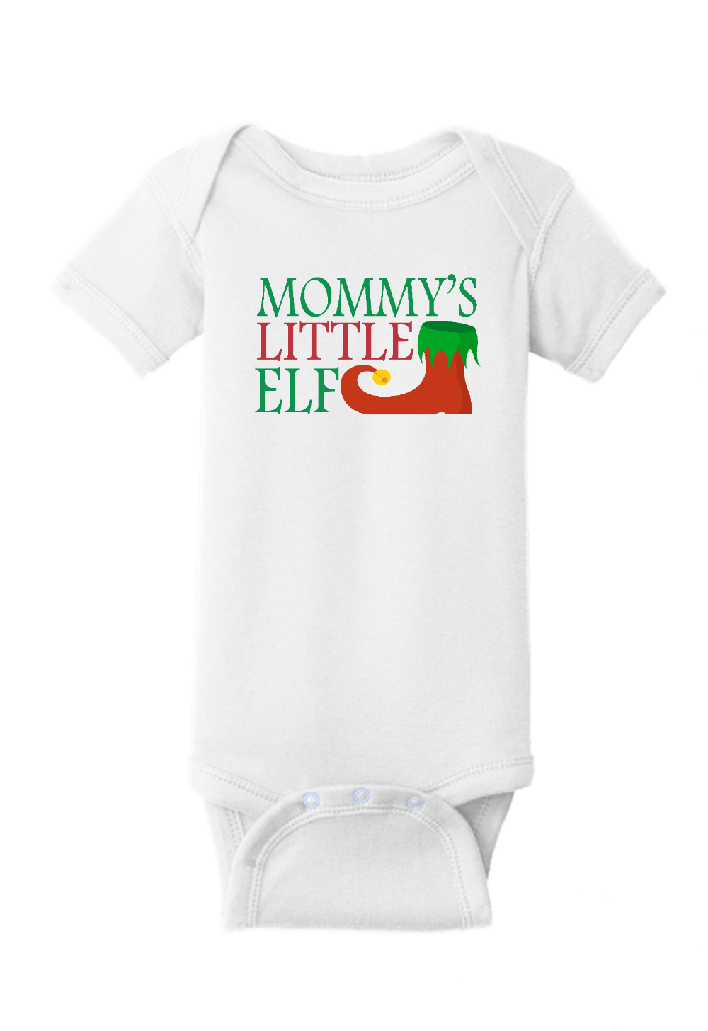 Mommy's Little Elf Christmas Onesie
