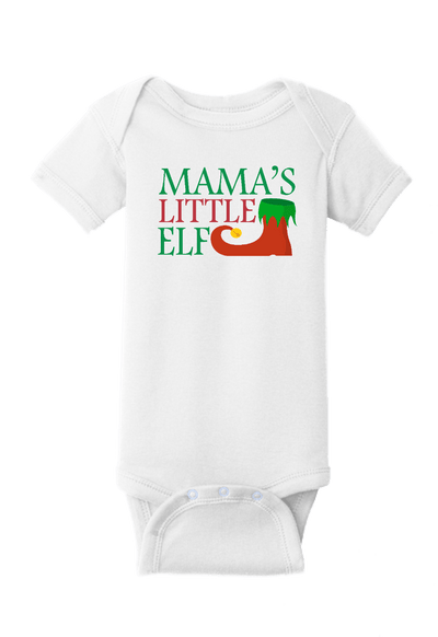 Mama's LIttle Elf Christmas Baby One Piece