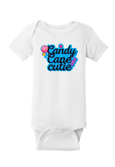 Candy Cane Cutie Christmas Baby One Piece