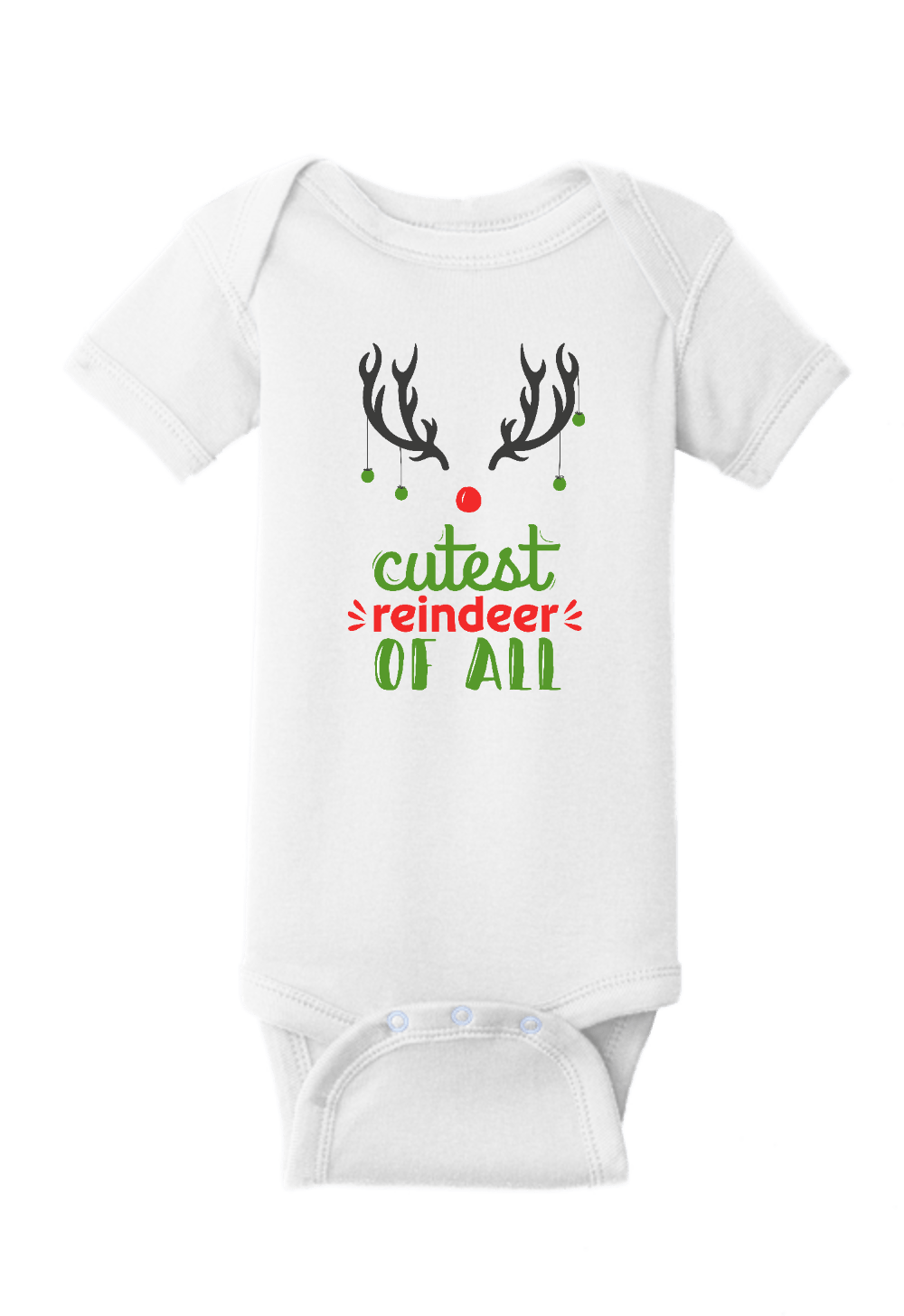Cutest Reindeer of All Christmas Onesie