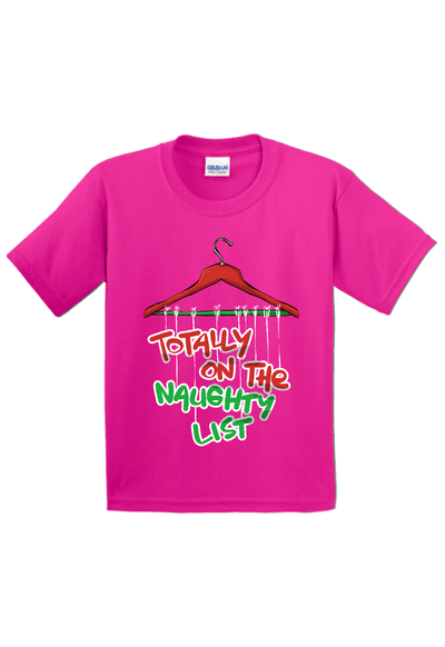 Totally on the Naughty List Christmas Youth Shirt