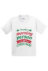 I am Only a Morning Person on Christmas Youth Shirt