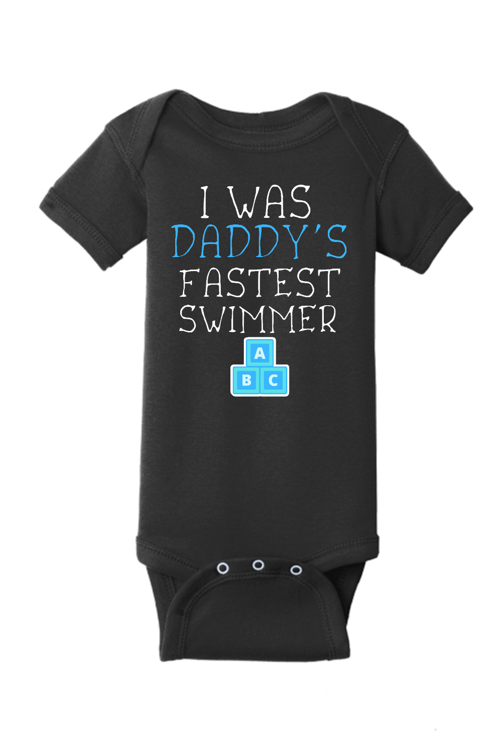 Daddy's Fastest Swimmer Onesie