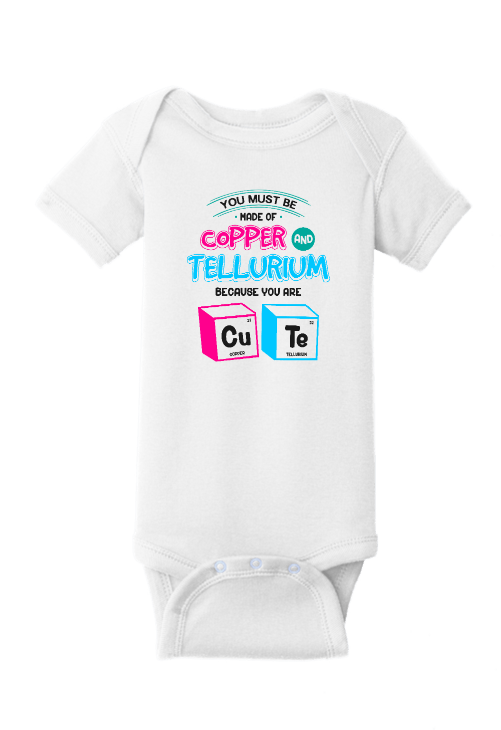 Copper and Tellurium Cute Onesie