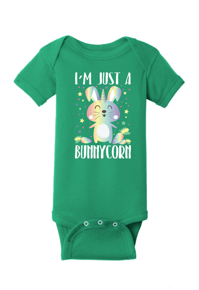 Just a Bunnycorn Unicorn Bunny Baby One Piece