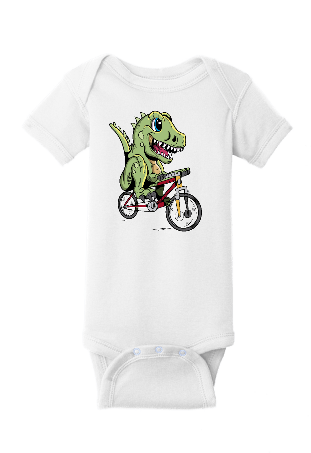 Dinosaur Riding a Bike Onesie