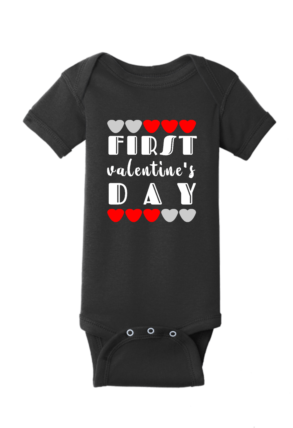 First Valentines Day Onesie