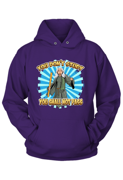 You Don't Study you Shall not Pass Hoodie