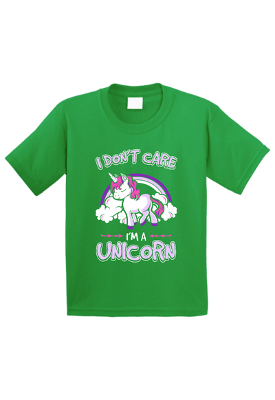 I Don't Care I am a Unicorn Toddler Shirt